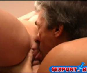 Grandpa while she fingerfucks young girl