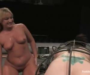Three lesbi girls fucked by fuck machines