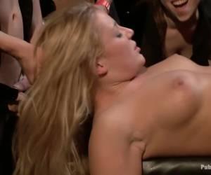 Beautiful Blonde Disgraced in Public