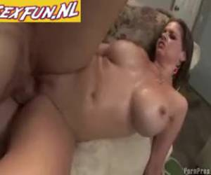 Busty milf lets herself crazy fuck