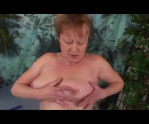 Horny grandma is hmmm and also fucked