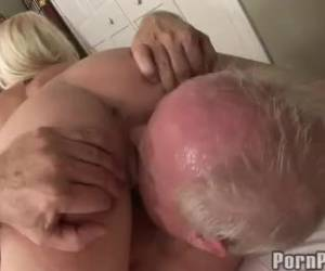 Blonde whore whiteh big knockers I by older man