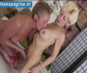 Two horny old lesbians record themselves on