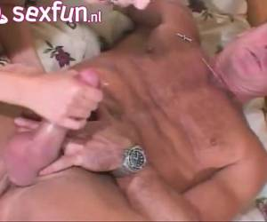 He fucks the pussy and the anus of his future daughter-in-law and come in her face