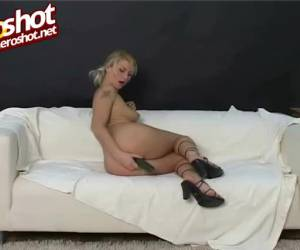 Hot blonde making love to herself
